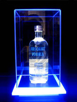 Acrylic material led light acrylic beer wine bottle glorifier display case