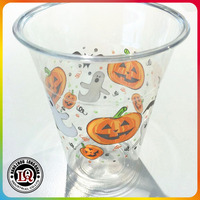 Color printed disposable PET plastic cup