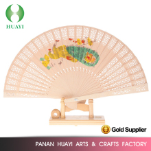 Hot sale promotion wood craft beautiful fans 2016