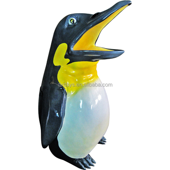 Fiberglass Playground Penguin Rubbish Can