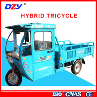 Cargo Loading Oil and Electrictricity Hybrid Tricycle