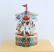 2018 new design newest top quality most romantic valentine's day gift carousel music box