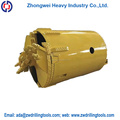 Sand drilling bucket with single bottom, earth drilling bucket for drilling parts