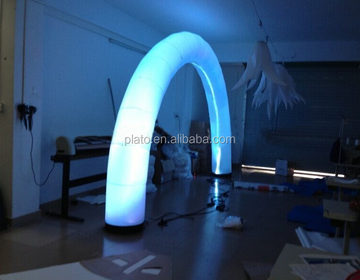 Good quality decoration inflatable LED arch door