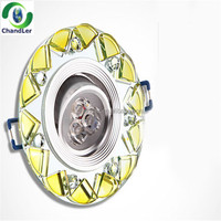 2014 Crystal 3w Led Recessed Down Light/LED crystal downlight