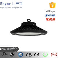 UL list IP65 ufo led high bay light with Meanwell driver and 5 years warranty