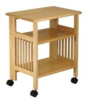 Wood Foldable Mission Cart / bamobo kitchen trolley - Natural