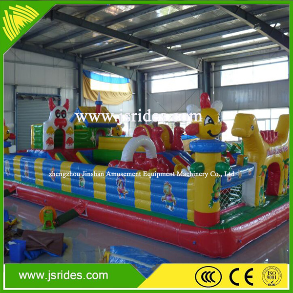 gaint Commercial jungle inflatable castle backyard inflatable jumper animal inflatable bouncers