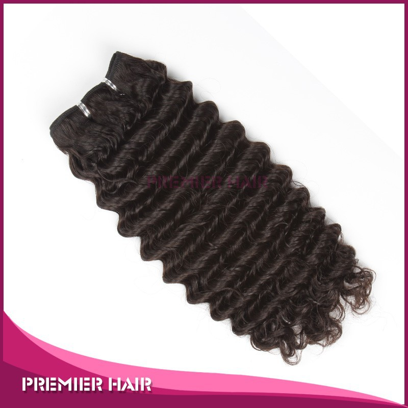 18inch factory price unprocessed malaysian deep wave virgin remy human hair weft