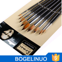 synthetic watercolor round artist paint brushes wholesale