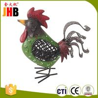 High quality metal rooster craft personalized christmas item