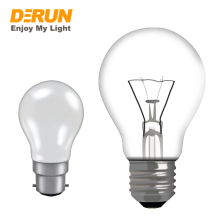 A55 A19 120V 127V 230V 40W 60W 100W 60hz China Clear Glass light E27 E26 Frosted B22 incandescent bulb for classical lamps