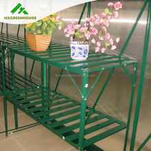 Latest innovative flower metal pot bench for greenhouse
