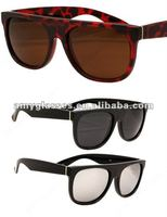 china factory 2012 top unisex fashion promotional plastic sunglasses
