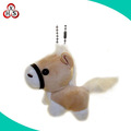 Wholesale mini sutffed animal keychains plush horse keychain
