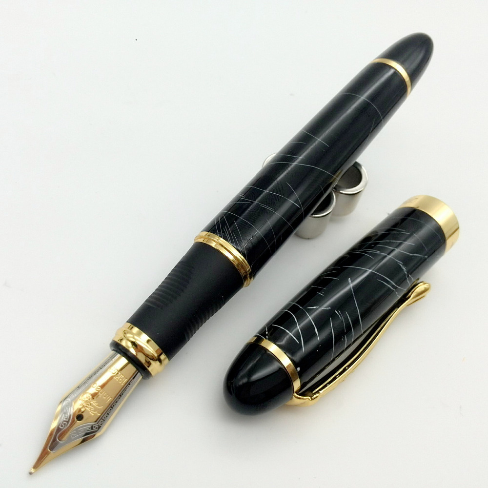 Black design jinhao X450 Fountain pen,stationery ink pens with golden clip for writing