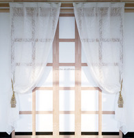 Top hotel quality Dubai star hotel polyester woven organza burnout curtain
