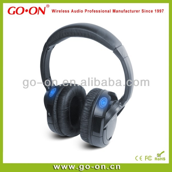 Fashional wireless silent disco headphones 3 channels