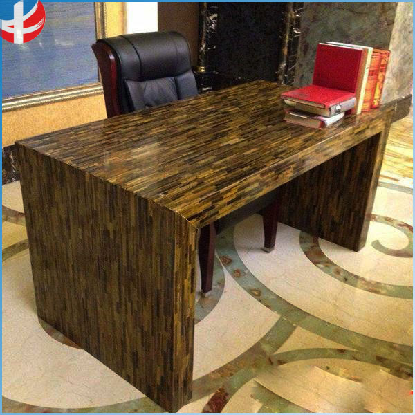Clasic Natural Gemstone Tiger Eye office meeting Conference Table