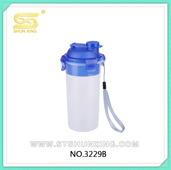 China wholesale cheap travel plastic drinking water bottle with hand rope