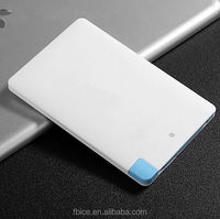 wallet powerbank credit card size portable charger power bank 2500mah
