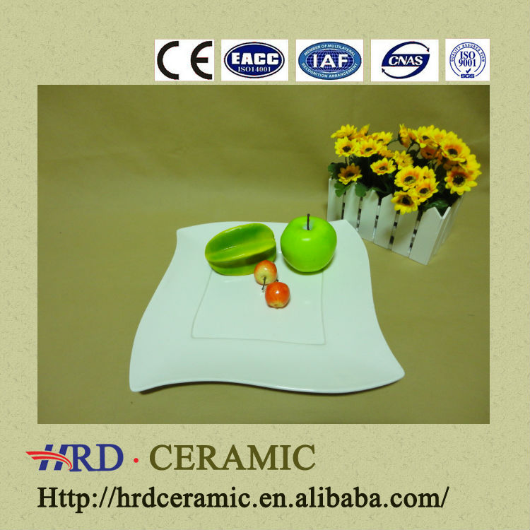 Factory 2014 Wholesale table ware square ceramic plate