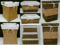 Seagrass Storage BasketsSeagrass, Laundry Baskets W/lining