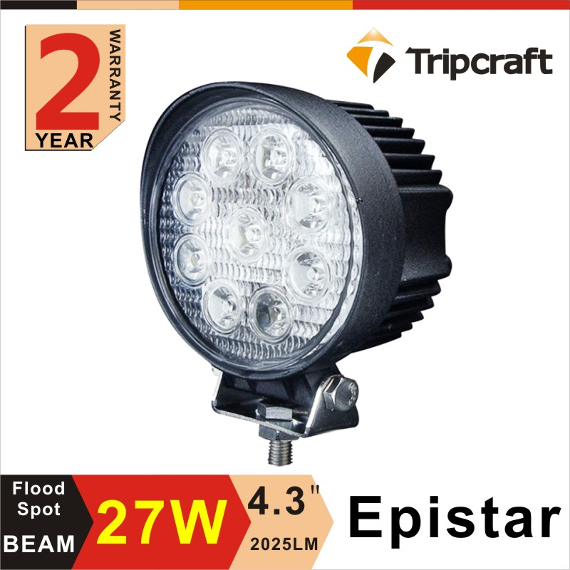 Wholesale! 5'' 27W LED WORK LIGHT 4*4 offroad auto hid Work Light 10-30V DC driving lights,car headlight
