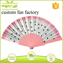 promotional folding pvc material pink plastic fan