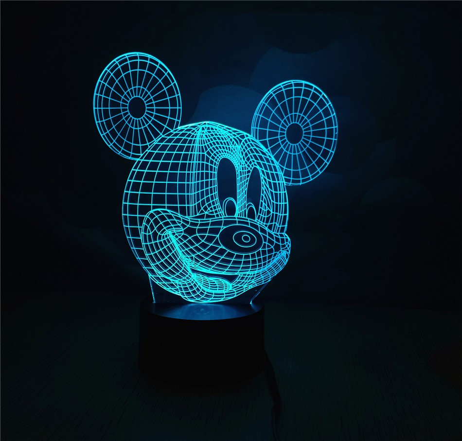 2016 New Arrivals 3D led Light New 3D Led Night Light