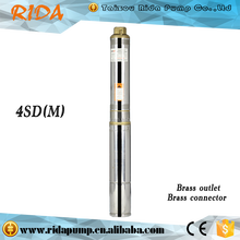 2016 Taizhou Rida 4 inch electric Fuel and Multistage Pump Structure Deep Well Ac Electric Submersible Water Pumps