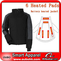 Custom motorbike jacket with high-tech electric heating system battery heated clothing warm OUBOHK