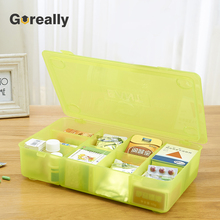 Plastic partitioned mini small compartment storage container with divided