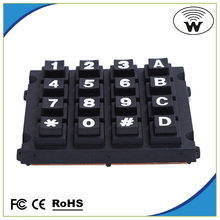 Keyboard for coin-box telephone set