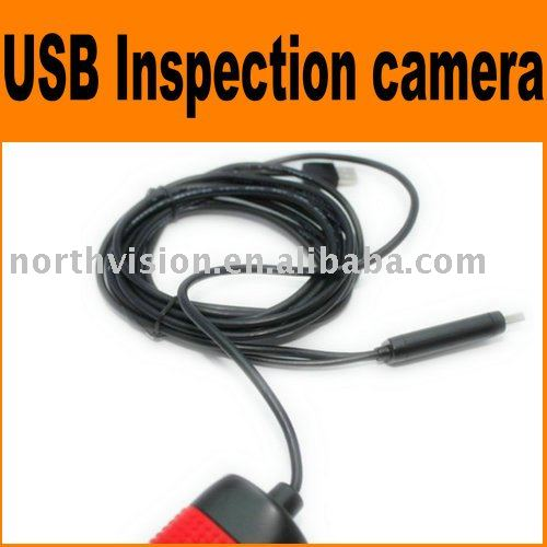 portable Endoscope with zoom in, LED, connect with PC by USB