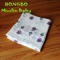 hot sales 100% organic cotton queen size thermal blanket baby blanket