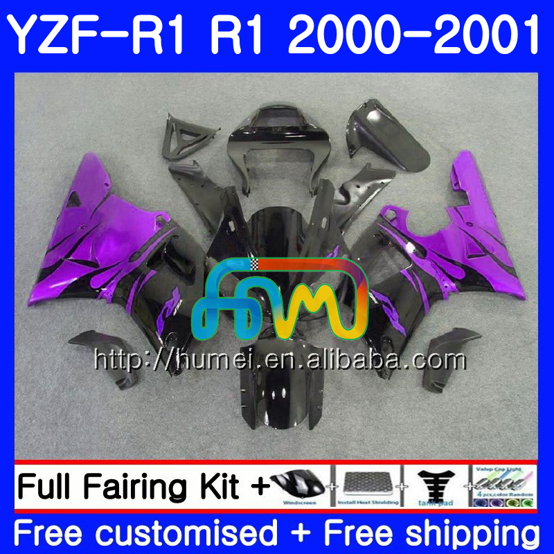 Bodywork For YAMAHA YZF 1000 YZF-<strong>R1</strong> Purple flames 2000 2001 Body 98HM5 YZF1000 YZF R 1 YZFR1 <strong>00</strong> <strong>01</strong> YZF-1000 YZF <strong>R1</strong> <strong>00</strong> <strong>01</strong> Fairing