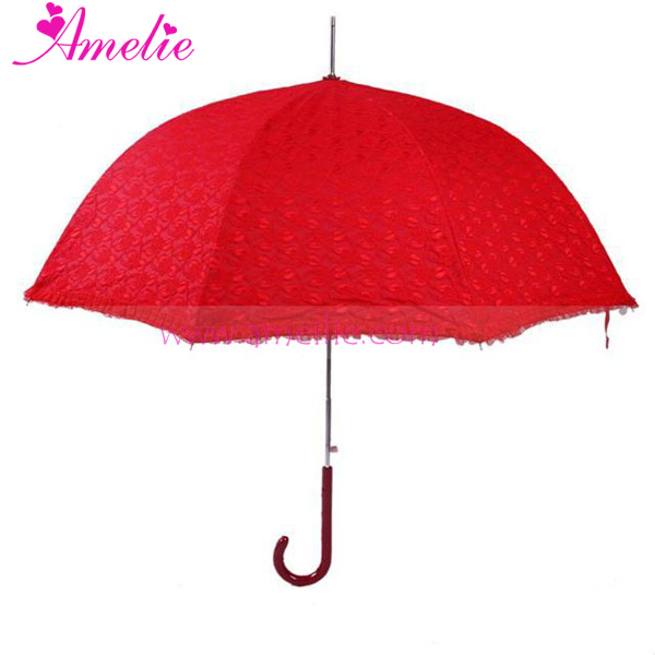 UV Protected 2 Layers Bride Lace Outdoor Umbrella