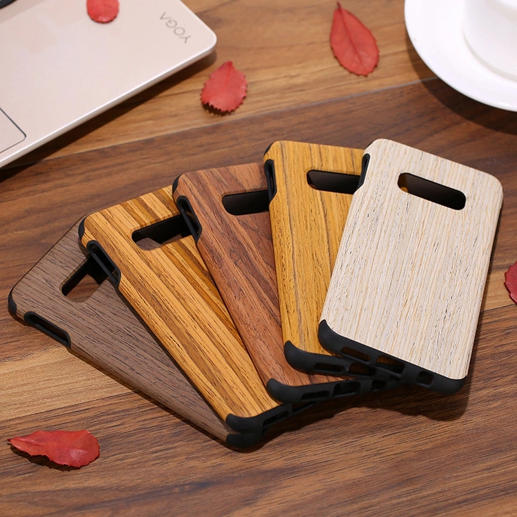 Luxury Slim Blank Wooden TPU Back Phone <strong>Case</strong> for Samsung Galaxy S10 S10 Plus S10e