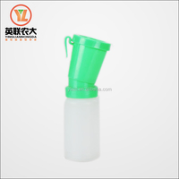 plastic non-return teat dipper for cattle