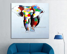 Handmade Abstract Oil Painting Animal Wall Art on Canvas for Home Decoration china wholesales