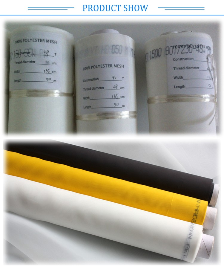 100% polyester screen printing mesh/bolting cloth factory from China