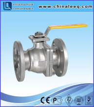 Lever operated 2pc stainless steel floating ball valve