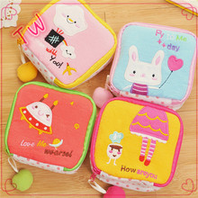 Niger Latest High quality womens bags and wallets wholesale custom printed cartoon cotton fabric keychain coin purse
