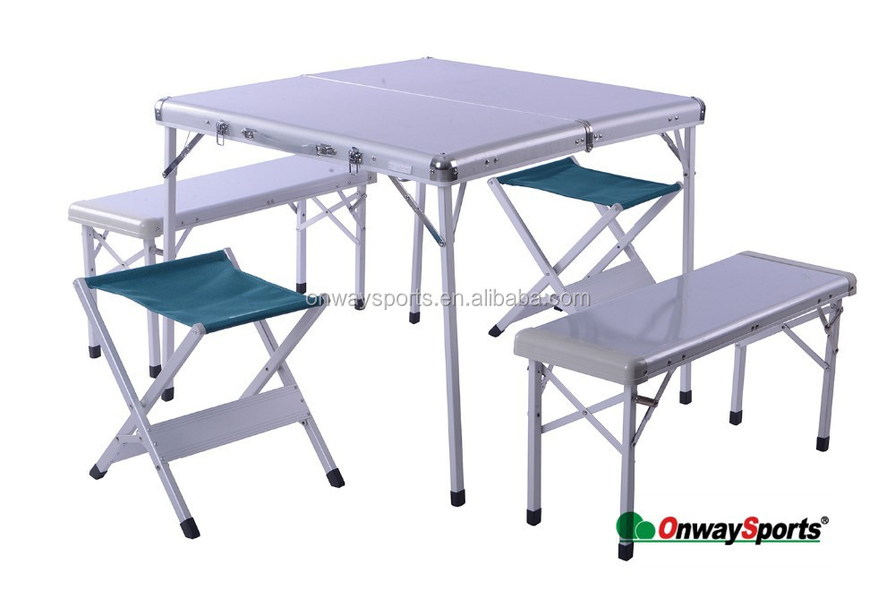 Practical Upscale 4 in 1 Folding Table with Four Chairs