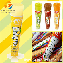 Calippo packaging /calippo ice cream filling / paper ice cream tube