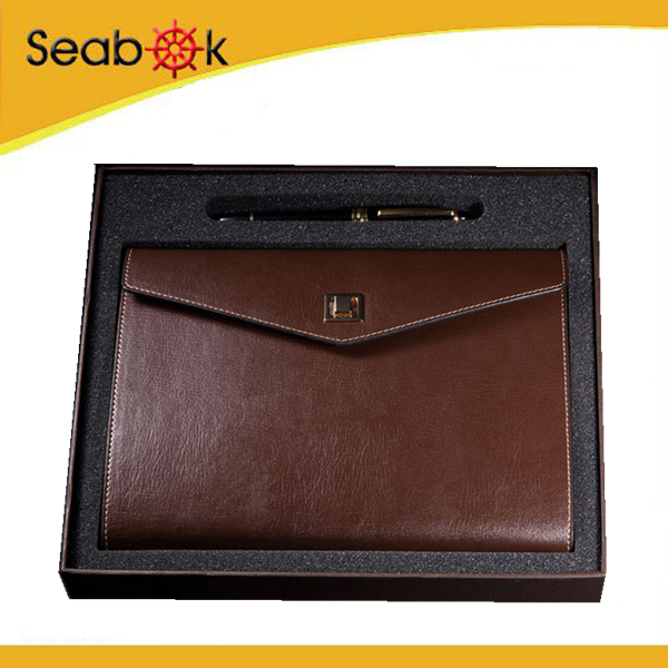 PU Leather Gift Set Notebook, Business Gift Set With Pen