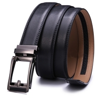 Manufacturer Latest Design Cowhide Man Top Leather Belt with Slide Buckle