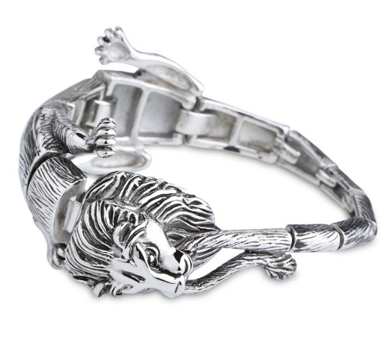 Animal Lion bracelets jewelry for men 316l stainless steel jewelry 2015 men's bracelets & bangles bijoux