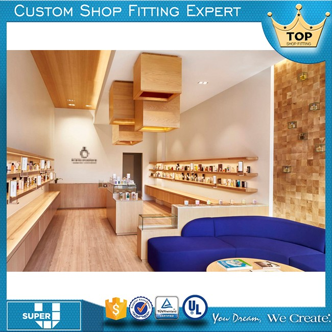 High End Global Famous Brand Retail wooden makeup Cosmetic Shop Furniture